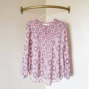 Violet & Claire Red Patterned Flowy Blouse L